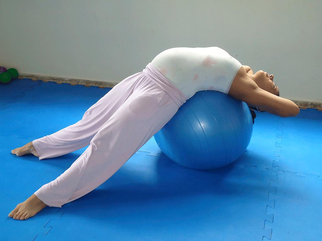 exercicios com bola na gravidez