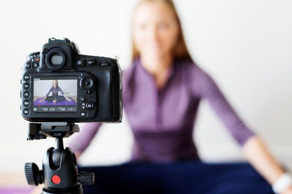 Gravação de aula de Pilates online