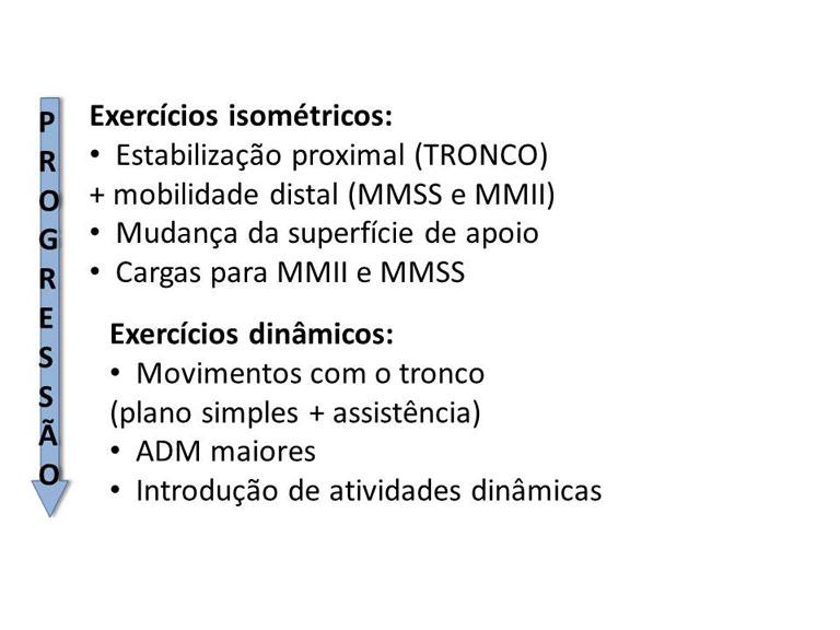 Progressão de exercícios para estabilidade do tronco