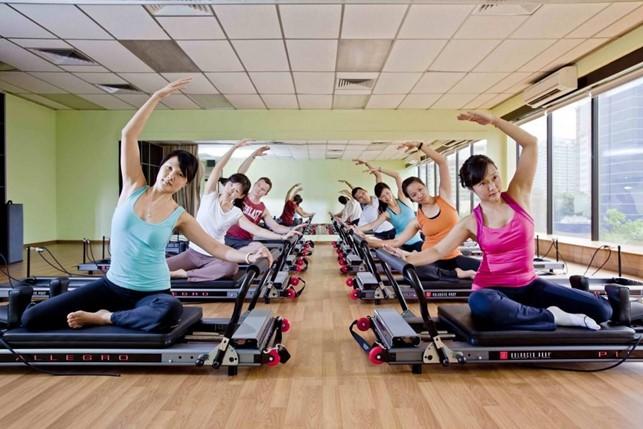 Turma de Pilates no Reformer